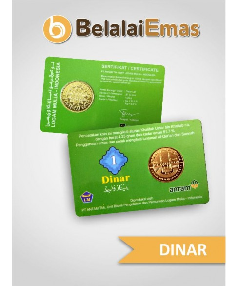 1 Dinar Antam Cover Hijau