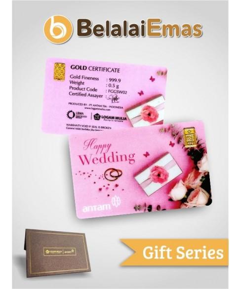 Antam Gift Series - 0.5 Gram Wedding Pink