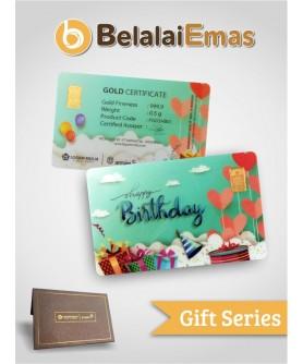 Antam Gift Series - 0,5 Gram Happy Birthday