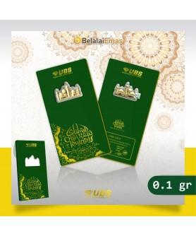 Logam Mulia UBS 0,1 gram Edisi Idul Fitri